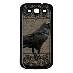 Vintage Halloween Raven Samsung Galaxy S3 Back Case (black)