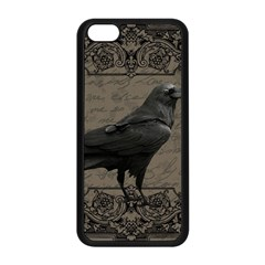 Vintage Halloween Raven Apple Iphone 5c Seamless Case (black)