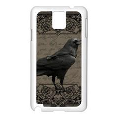 Vintage Halloween Raven Samsung Galaxy Note 3 N9005 Case (white)