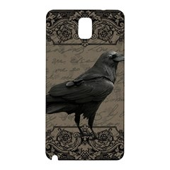 Vintage Halloween Raven Samsung Galaxy Note 3 N9005 Hardshell Back Case