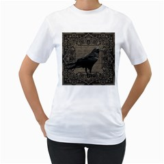 Vintage Halloween Raven Women s T Shirt (white)