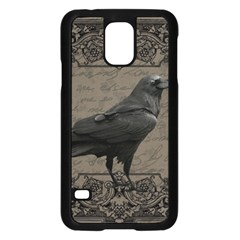 Vintage Halloween Raven Samsung Galaxy S5 Case (black)