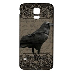 Vintage Halloween Raven Samsung Galaxy S5 Back Case (white)