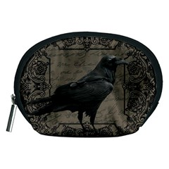 Vintage Halloween Raven Accessory Pouches (medium)