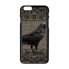 Vintage Halloween Raven Apple Iphone 6/6s Black Enamel Case