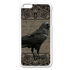 Vintage Halloween Raven Apple Iphone 6 Plus/6s Plus Enamel White Case