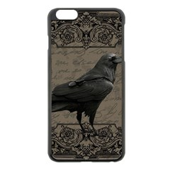Vintage Halloween Raven Apple Iphone 6 Plus/6s Plus Black Enamel Case