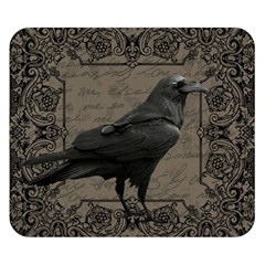 Vintage Halloween Raven Double Sided Flano Blanket (small)