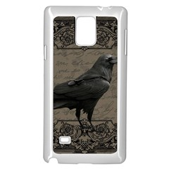 Vintage Halloween Raven Samsung Galaxy Note 4 Case (white)