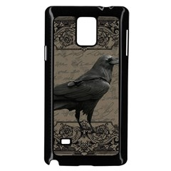 Vintage Halloween Raven Samsung Galaxy Note 4 Case (black)