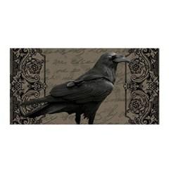 Vintage Halloween Raven Satin Wrap