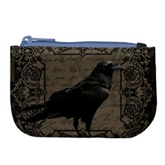 Vintage Halloween Raven Large Coin Purse