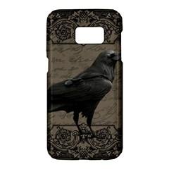 Vintage Halloween Raven Samsung Galaxy S7 Hardshell Case