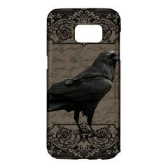 Vintage Halloween Raven Samsung Galaxy S7 Edge Hardshell Case
