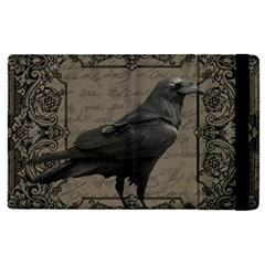 Vintage Halloween Raven Apple Ipad Pro 12 9   Flip Case