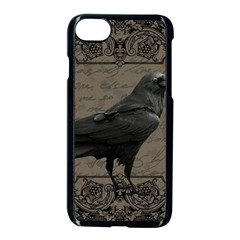 Vintage Halloween Raven Apple Iphone 7 Seamless Case (black)