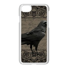 Vintage Halloween Raven Apple Iphone 7 Seamless Case (white)