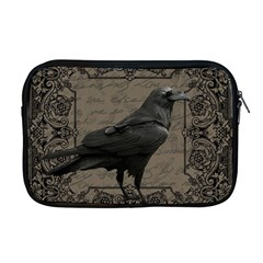 Vintage Halloween Raven Apple Macbook Pro 17  Zipper Case