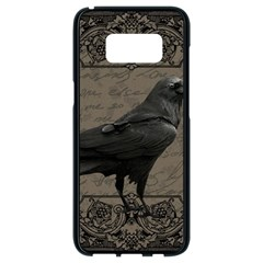 Vintage Halloween Raven Samsung Galaxy S8 Black Seamless Case