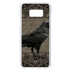 Vintage Halloween Raven Samsung Galaxy S8 Plus White Seamless Case
