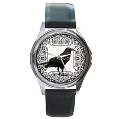 Vintage Halloween Raven Round Metal Watch