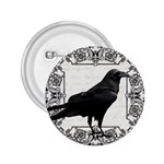 Vintage Halloween raven 2.25  Buttons Front