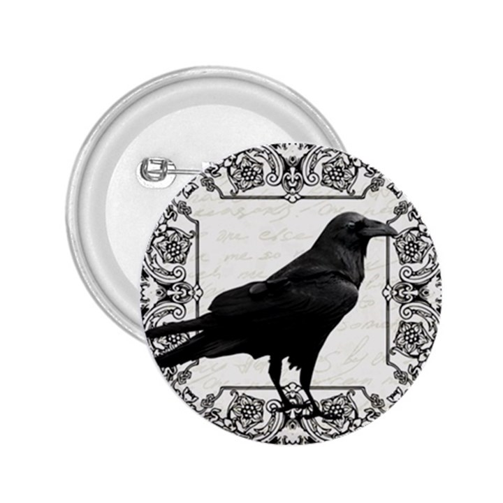 Vintage Halloween raven 2.25  Buttons