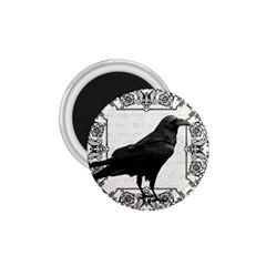 Vintage Halloween Raven 1 75  Magnets