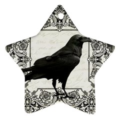 Vintage Halloween Raven Ornament (star)