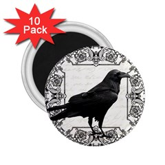 Vintage Halloween Raven 2 25  Magnets (10 Pack)