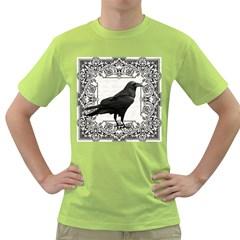 Vintage Halloween Raven Green T Shirt