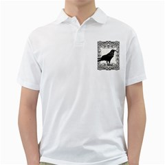 Vintage Halloween Raven Golf Shirts