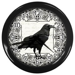 Vintage Halloween Raven Wall Clocks (black)