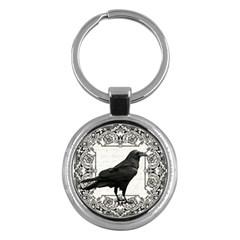 Vintage Halloween Raven Key Chains (round)