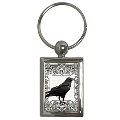 Vintage Halloween Raven Key Chains (rectangle)