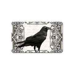 Vintage Halloween Raven Magnet (name Card)