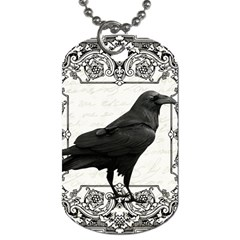 Vintage Halloween Raven Dog Tag (one Side)