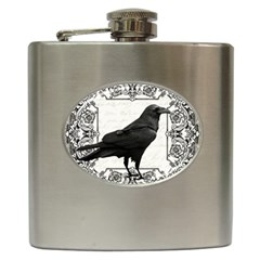 Vintage Halloween Raven Hip Flask (6 Oz)