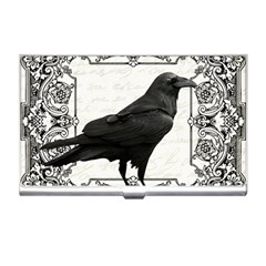 Vintage Halloween Raven Business Card Holders