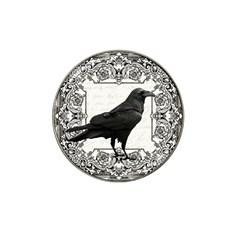 Vintage Halloween Raven Hat Clip Ball Marker (4 Pack)