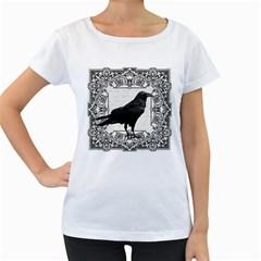 Vintage Halloween Raven Women s Loose Fit T Shirt (white)
