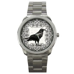 Vintage Halloween Raven Sport Metal Watch