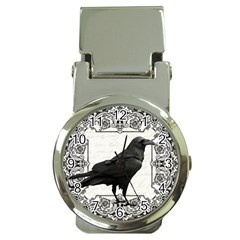 Vintage Halloween Raven Money Clip Watches