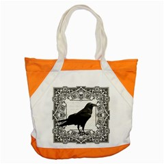 Vintage Halloween Raven Accent Tote Bag