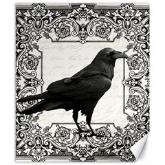 Vintage Halloween Raven Canvas 8  X 10