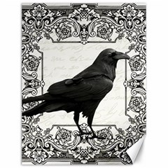 Vintage Halloween Raven Canvas 12  X 16