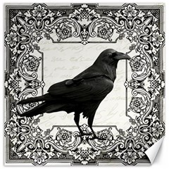 Vintage Halloween Raven Canvas 16  X 16