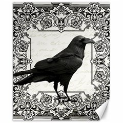Vintage Halloween Raven Canvas 16  X 20