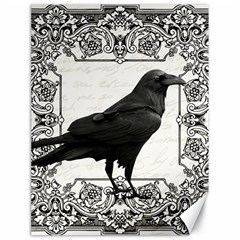 Vintage Halloween Raven Canvas 18  X 24