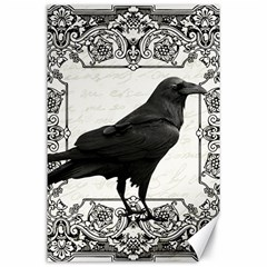 Vintage Halloween Raven Canvas 24  X 36